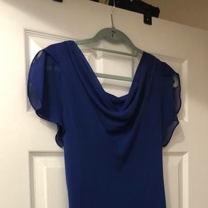 Blue Dress with Diamond like accents